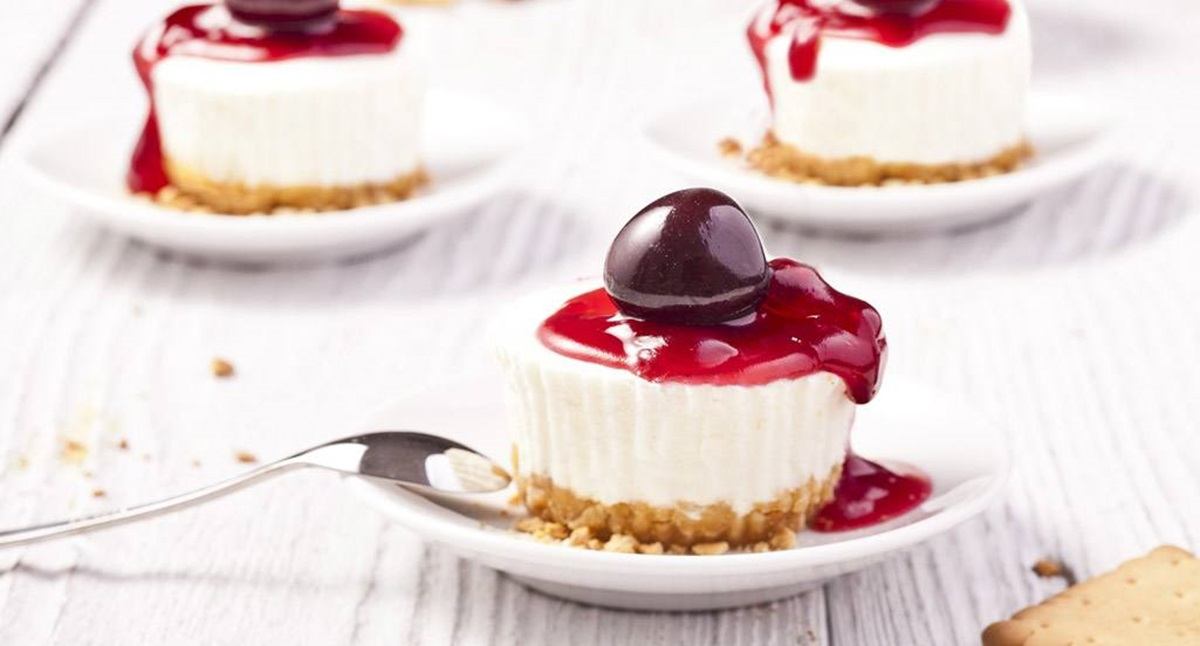 recipe image Mini-Cheesecakes de Cereja
