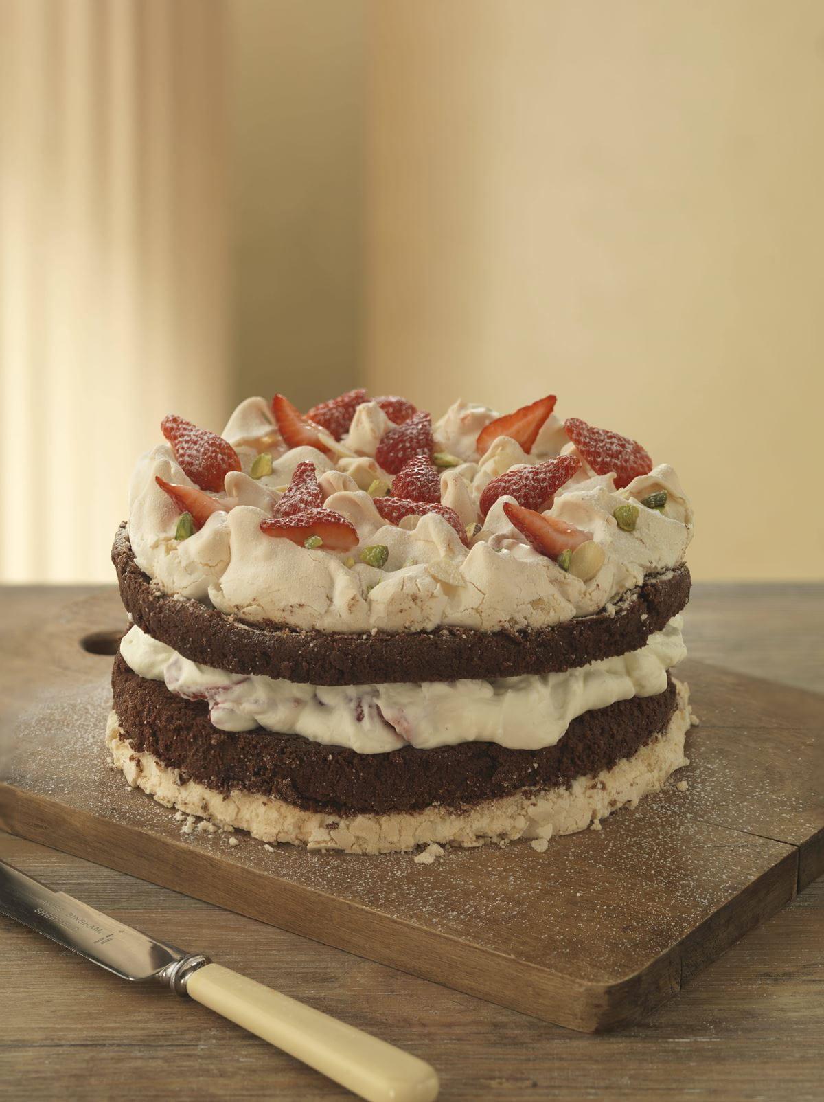 recipe image Bolo irresistível de merengue e chocolate
